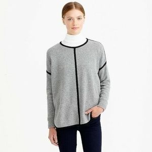 J Crew Lambswool Tipped Tunic Sweater